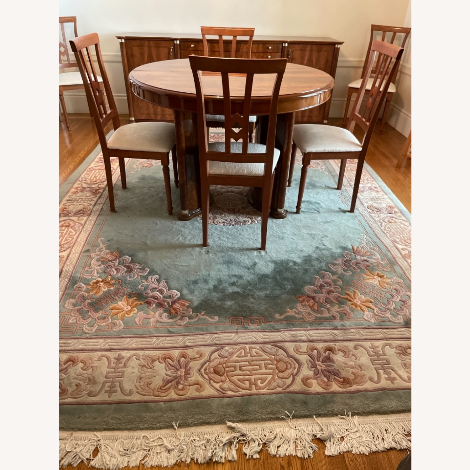 Bloomingdale's Classic Green Wool Chinese Rug - image-5