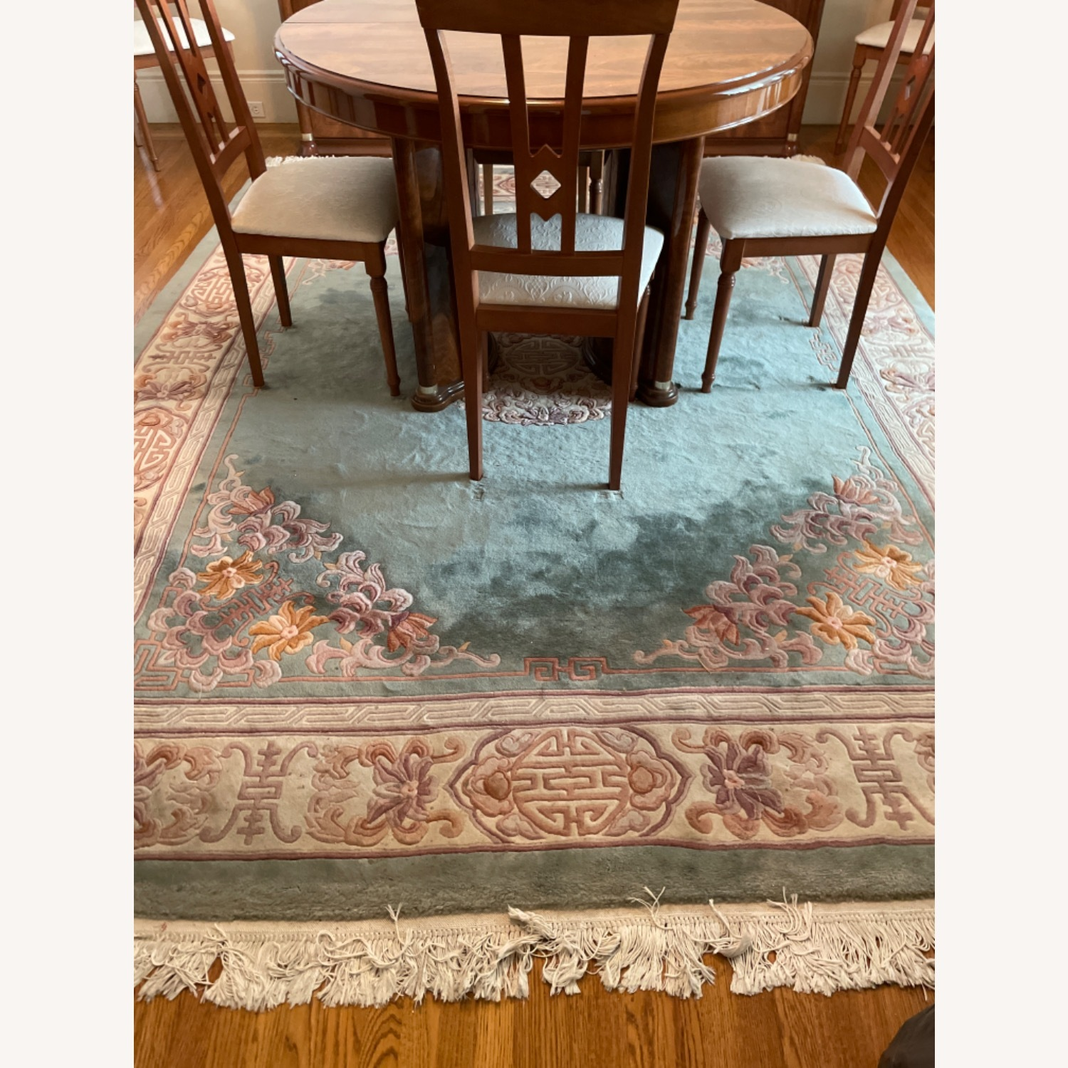 Bloomingdale's Classic Green Wool Chinese Rug - image-1
