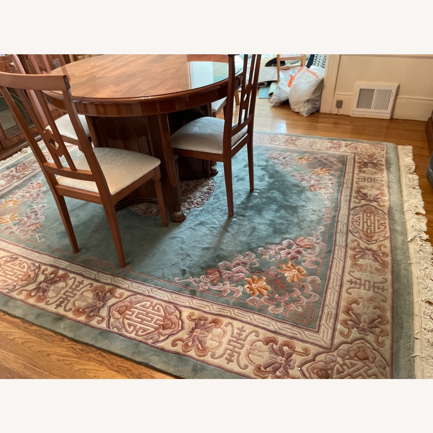 Bloomingdale's Classic Green Wool Chinese Rug - image-2