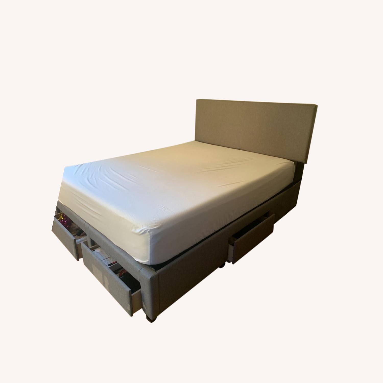 Wayfair Grey Queen Bed with Storage - image-0
