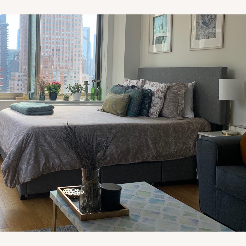 Wayfair Grey Queen Bed with Storage - image-1