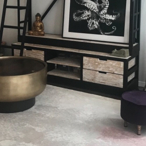 Used Anthropologie Cast Iron Wood Media Console for sale on AptDeco