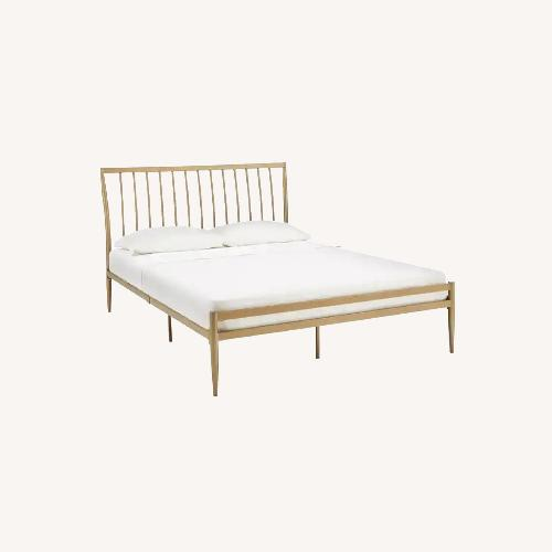 Used InspireQ Parkcrest Gold Finish Metal Bed for sale on AptDeco