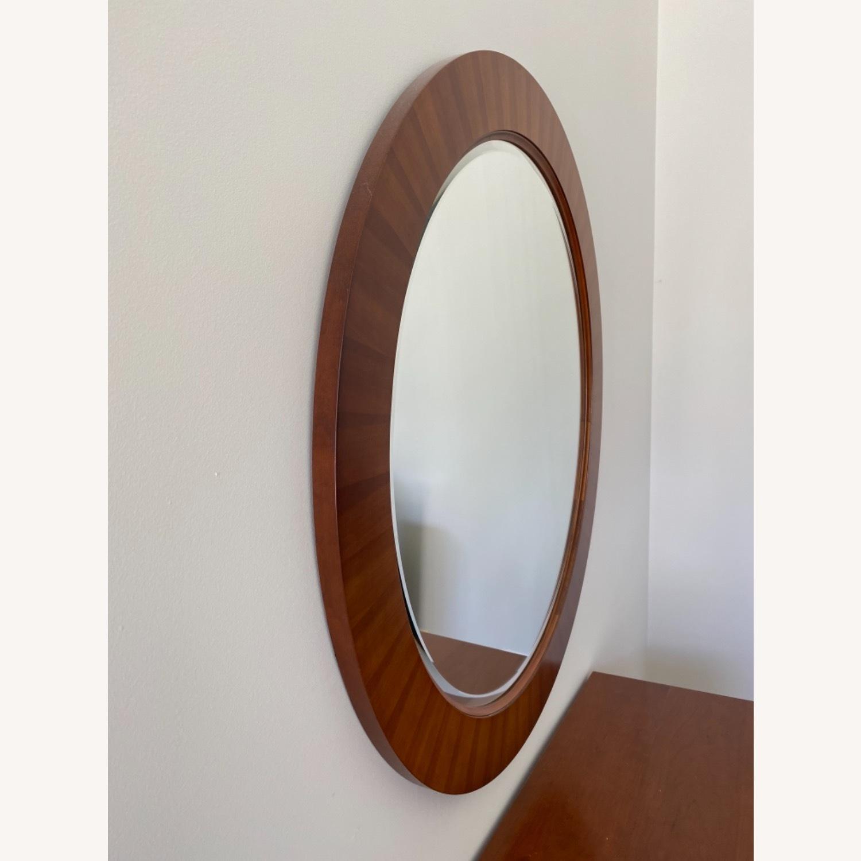 Ethan Allen Round 40 Mirror - image-2