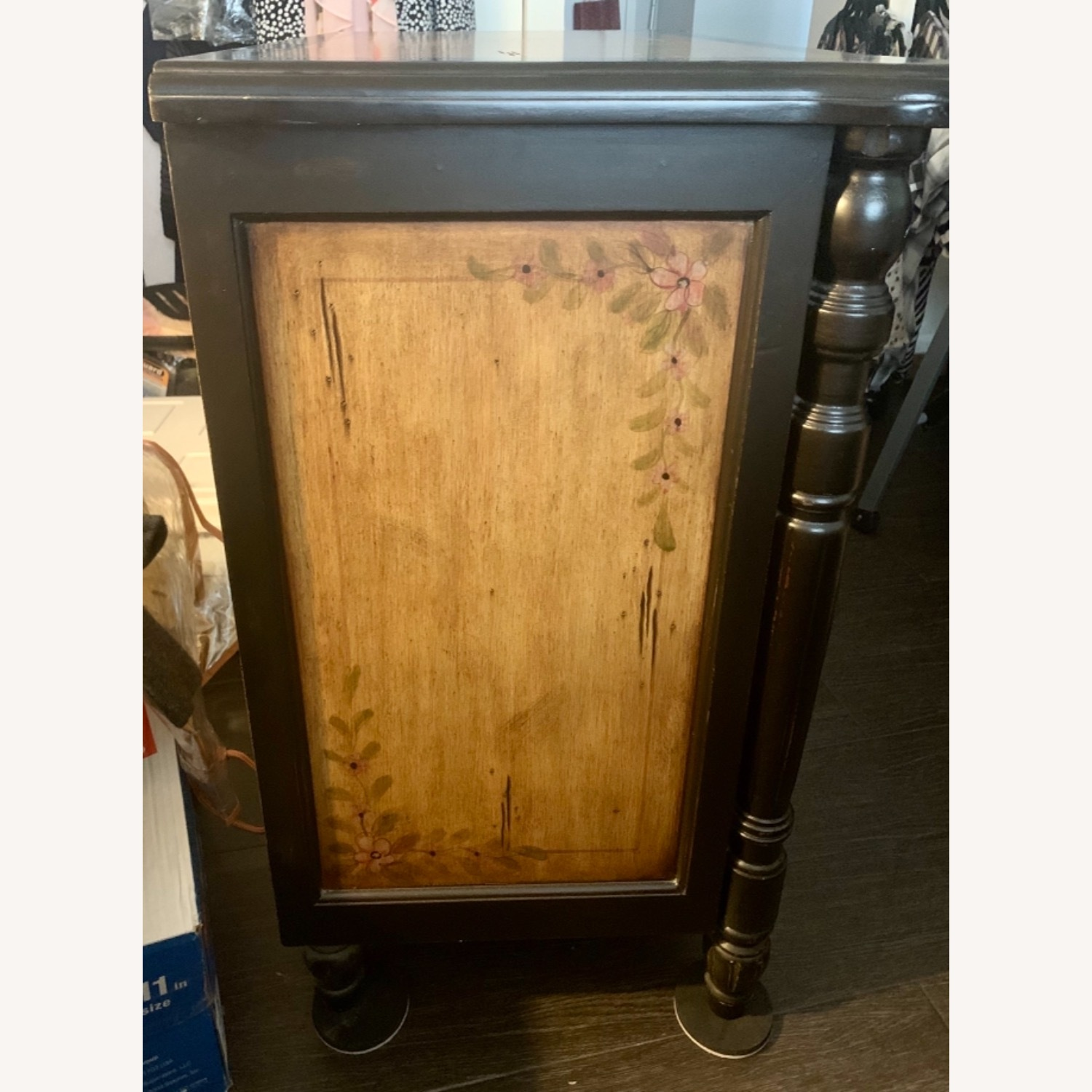 Hand-Painted Floral Accented Stein World Cabinet - image-2