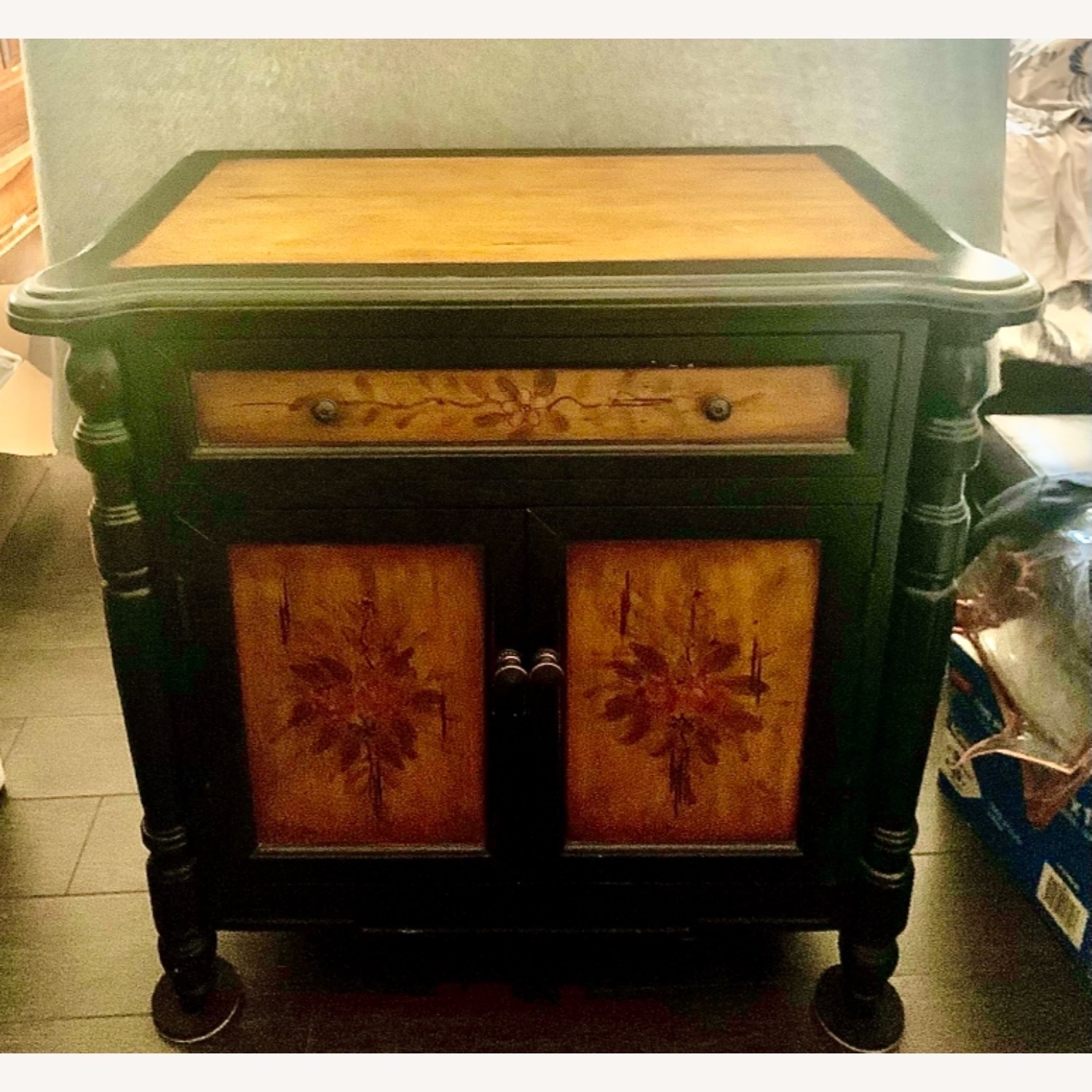 Hand-Painted Floral Accented Stein World Cabinet - image-6