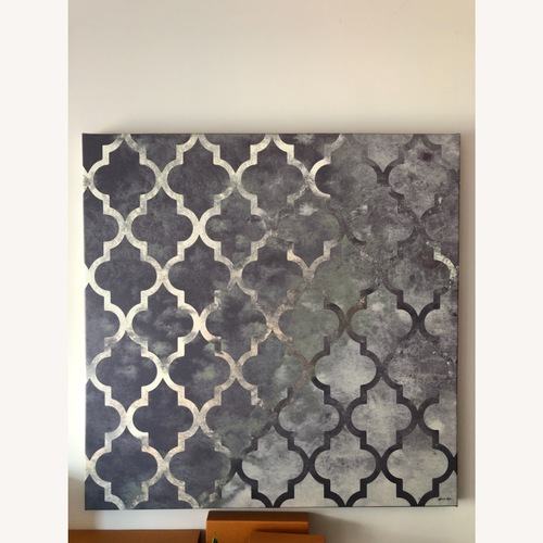 Used Gray Oliver Gal Canvas Art for sale on AptDeco