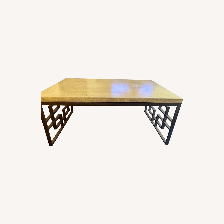 Taylor Made Custom Stone Coffee Table - image-0