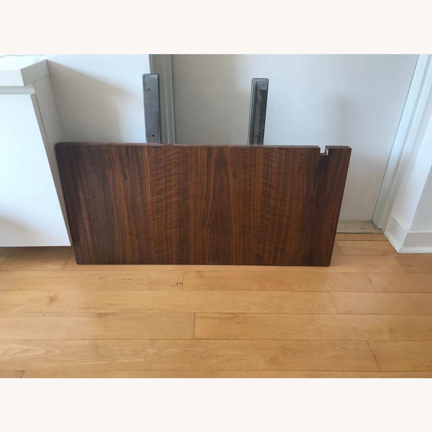 Taylor Made Custom Brass and Walnut Extension Dining Set - image-8