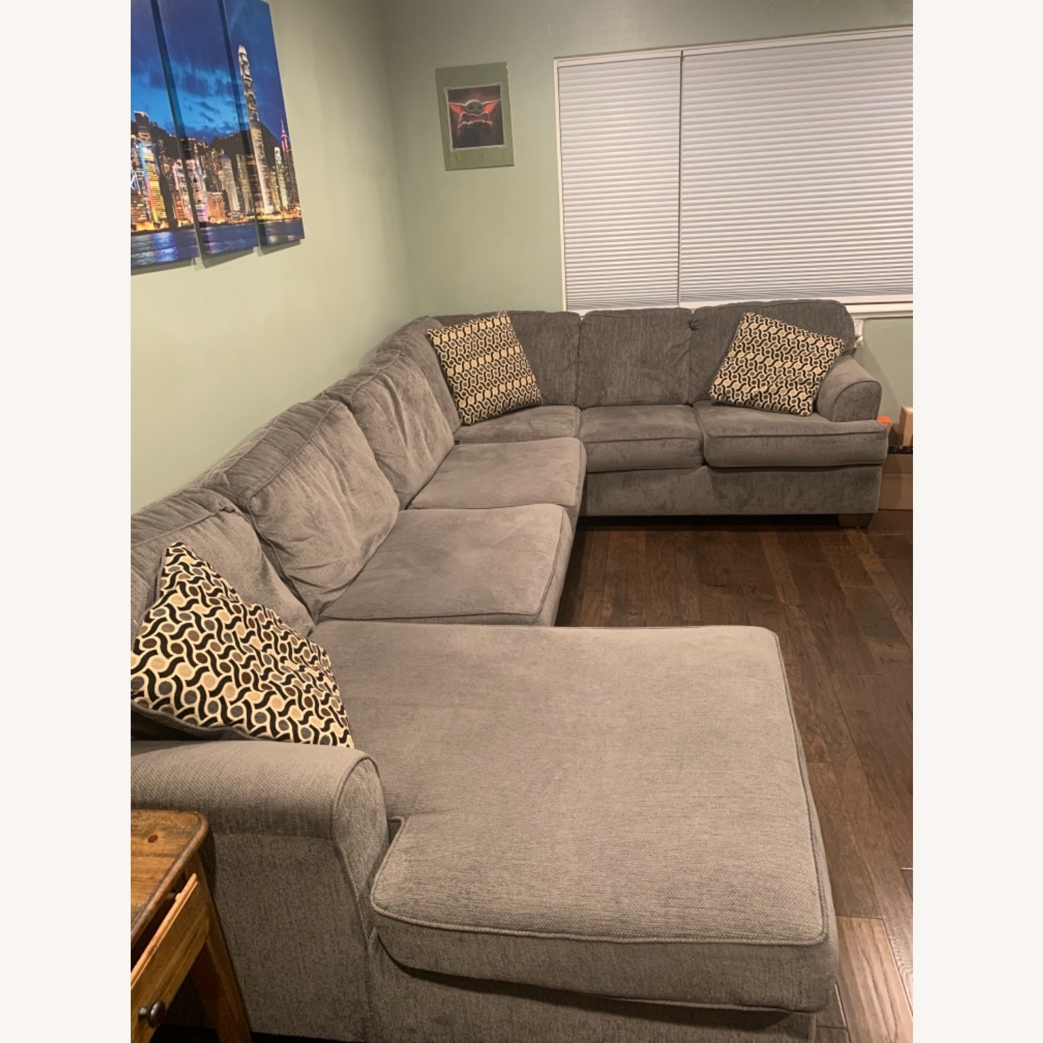 Living Spaces 3 Piece Sectional - image-1