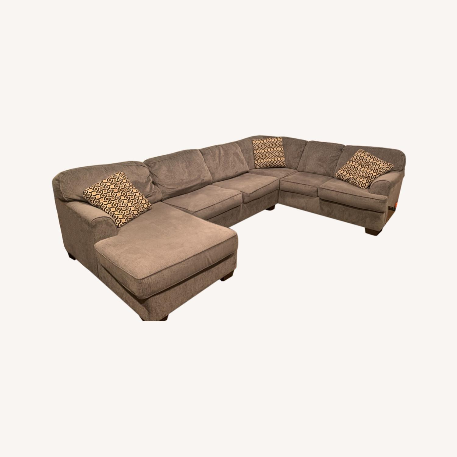Living Spaces 3 Piece Sectional - image-0