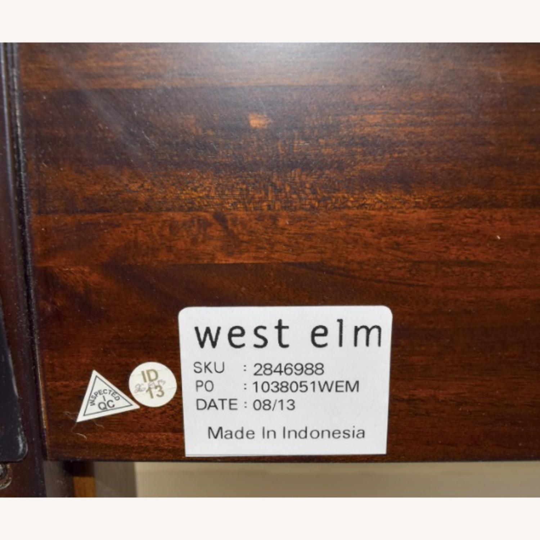West Elm Suede Tufted Queen Bed - image-5