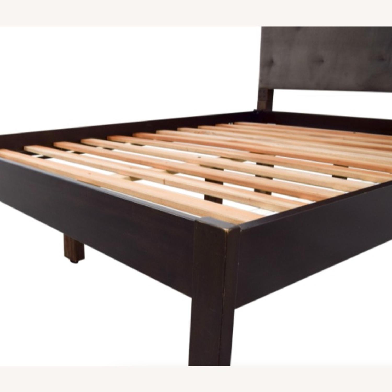 West Elm Suede Tufted Queen Bed - image-4