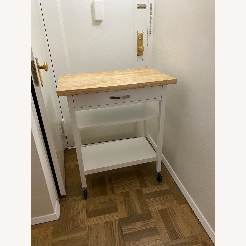 Wayfair Kitchen Cart with Butcher Block Top - image-1
