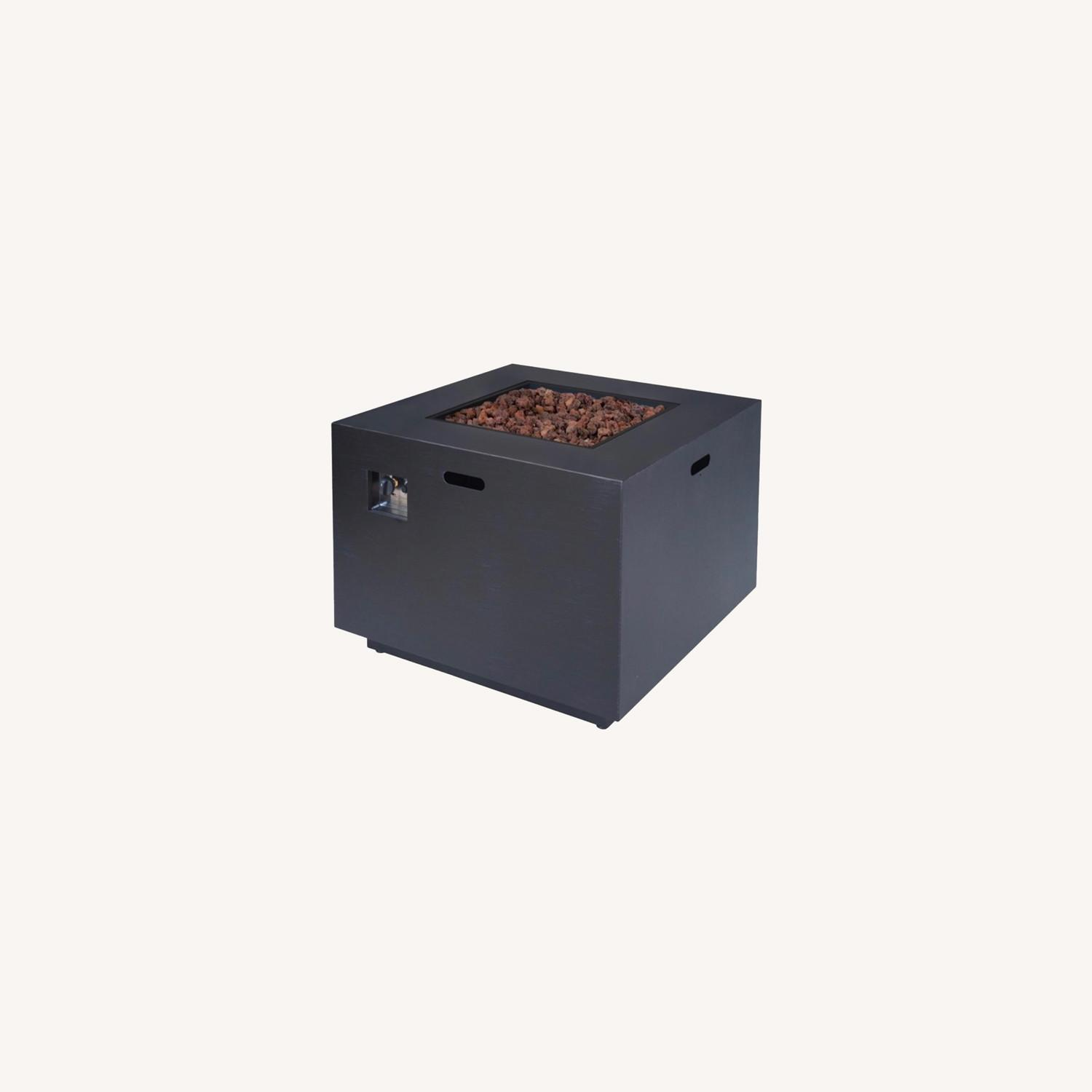 Outdoor 33 Inch Square Fire Pit plus Propane Tank - image-0