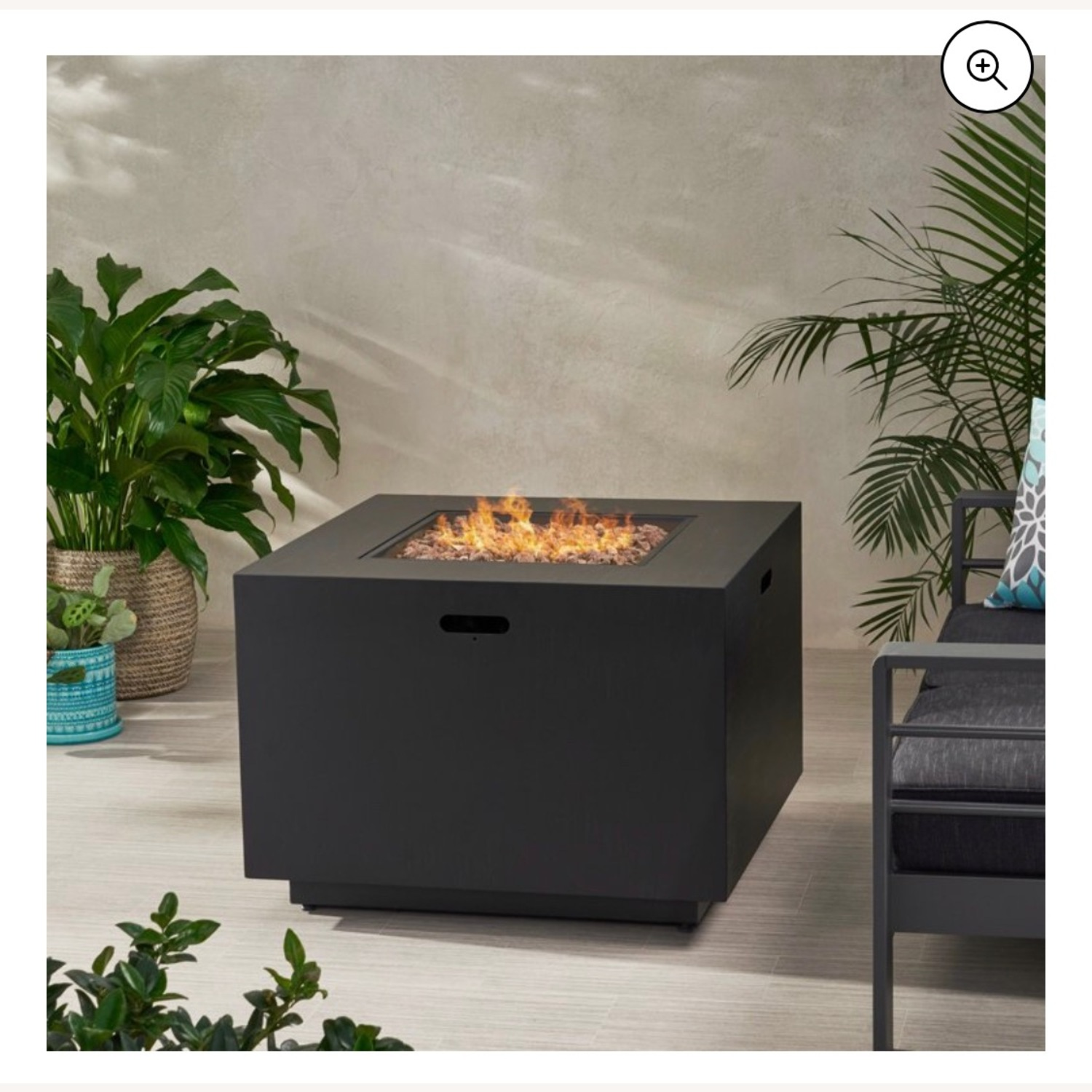 Outdoor 33 Inch Square Fire Pit plus Propane Tank - image-1