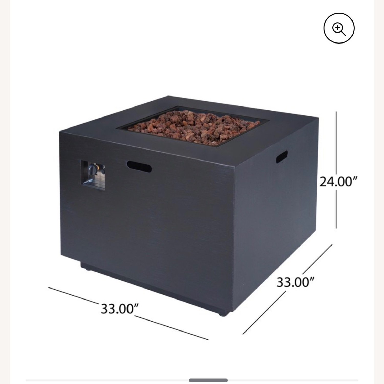 Outdoor 33 Inch Square Fire Pit plus Propane Tank - image-2