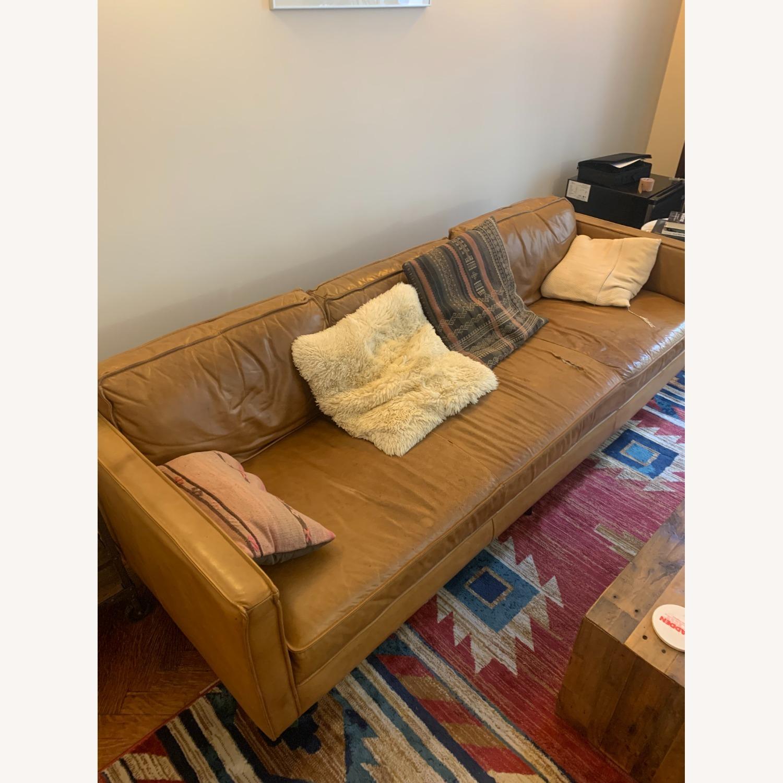 West Elm Leather Sofa - image-1