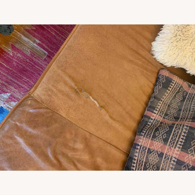 West Elm Leather Sofa - image-4