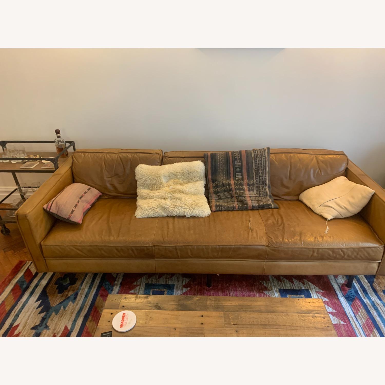 West Elm Leather Sofa - image-2
