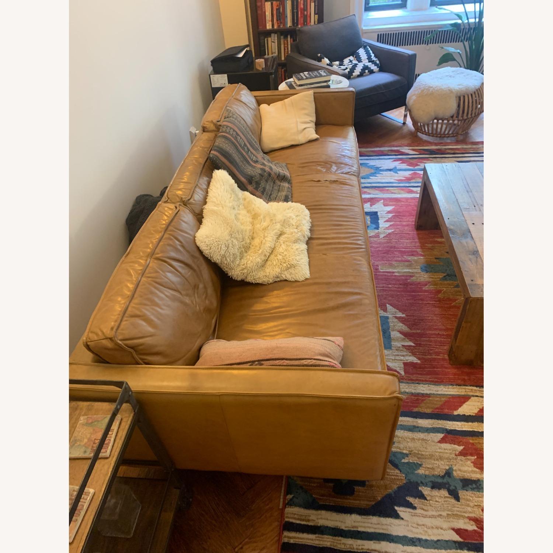 West Elm Leather Sofa - image-3