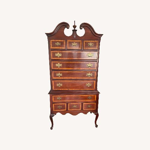 Used Dixie Mahogany Chippendale Style Highboy Dresser for sale on AptDeco
