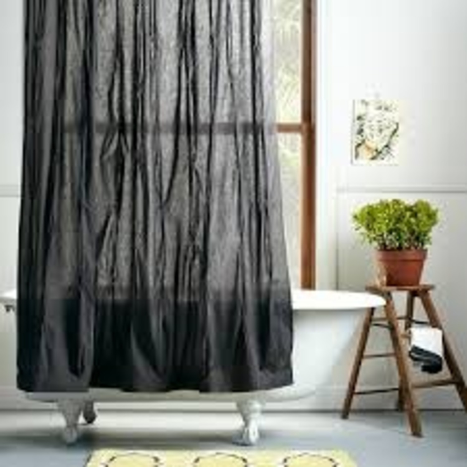 West Elm Grey Pintuck 8 Ft Curtains - image-2