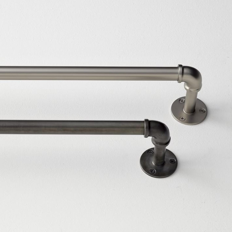 "West Elm Industrial Pipe Adjustable Rod 44"" 108"" - image-2"