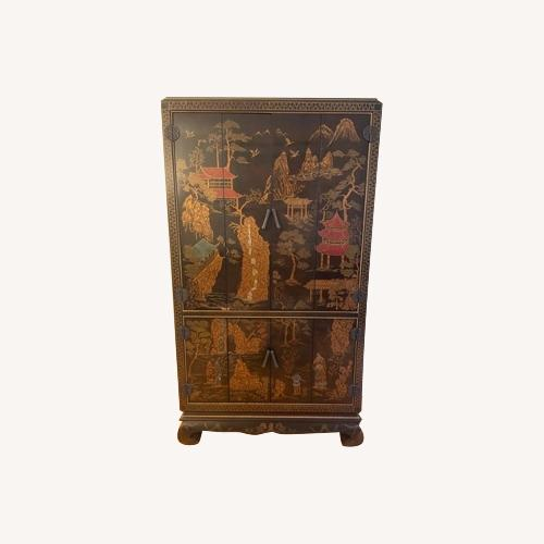 Used Chinoiserie Entertainment Center for sale on AptDeco