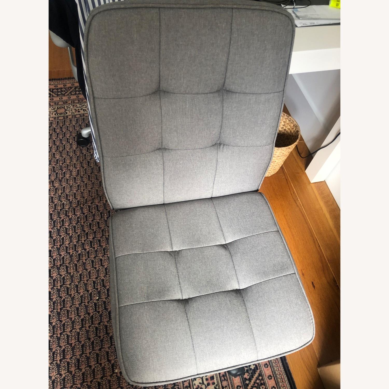Grey Swivel Roller Office Chair Minimalist - image-2