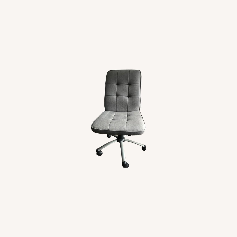Grey Swivel Roller Office Chair Minimalist - image-0