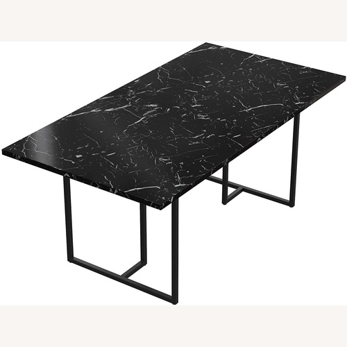Used Zuo Modern Faux Carrera Marble Dining Table for sale on AptDeco