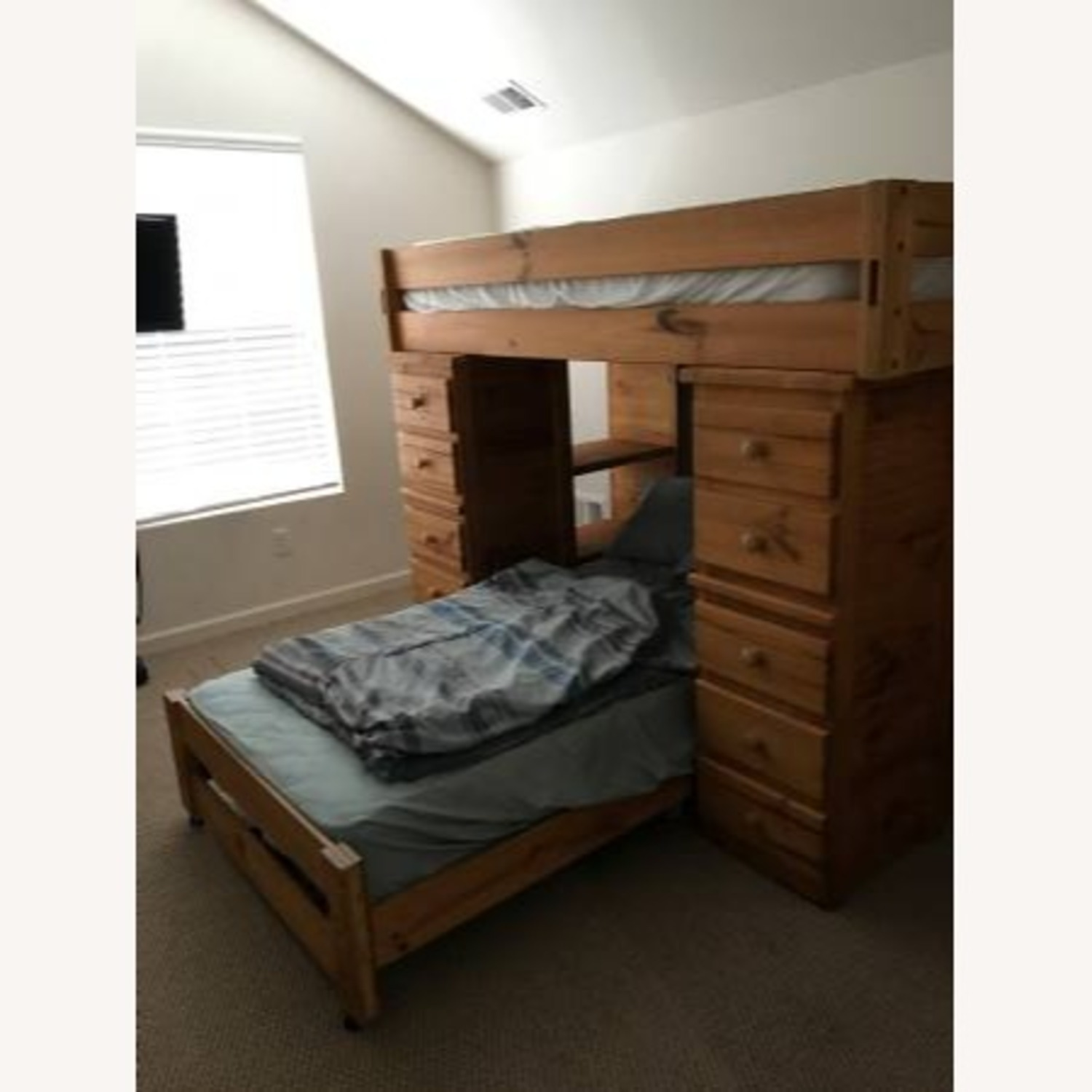 T Twin Bunk Beds - w Dresser Drawers Bookshelves - image-4