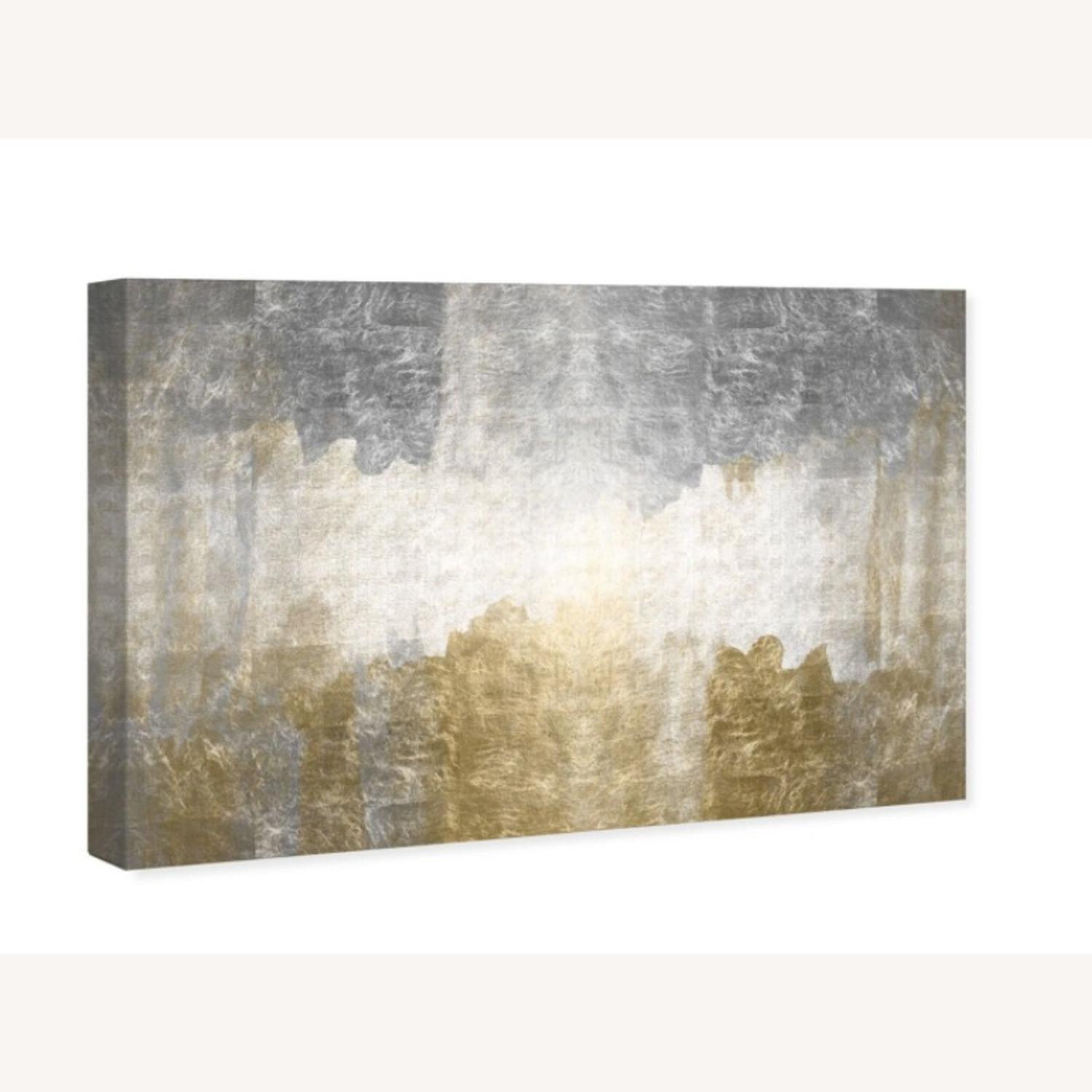 Oliver Gal Silver & Gold Absract Canvas Wall Art - image-3
