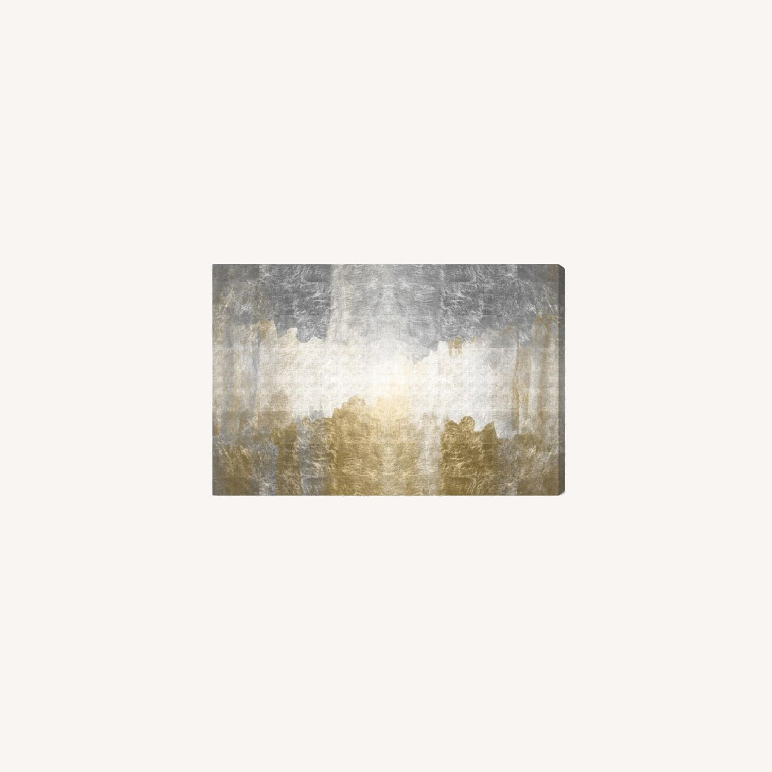 Oliver Gal Silver & Gold Absract Canvas Wall Art - image-0