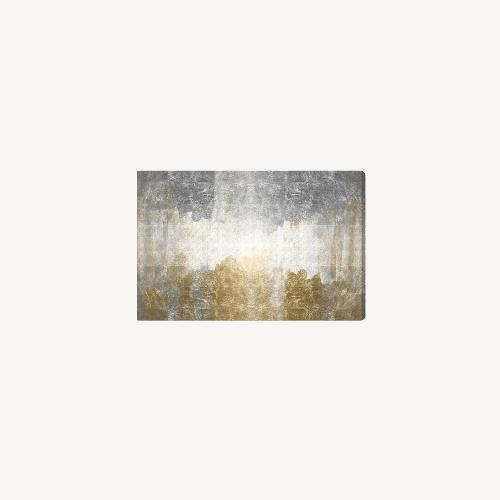 Used Oliver Gal Silver & Gold Absract Canvas Wall Art for sale on AptDeco