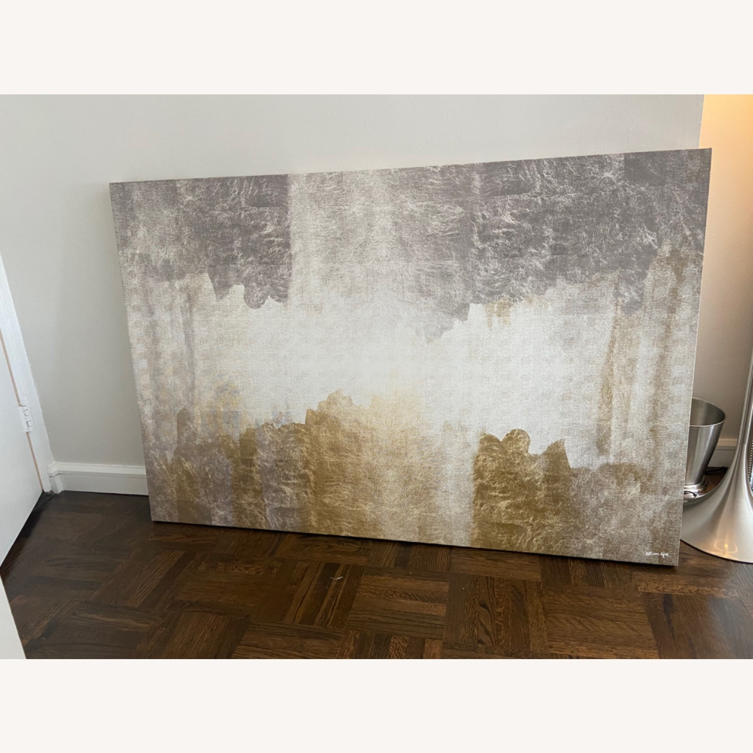 Oliver Gal Silver & Gold Absract Canvas Wall Art - image-4