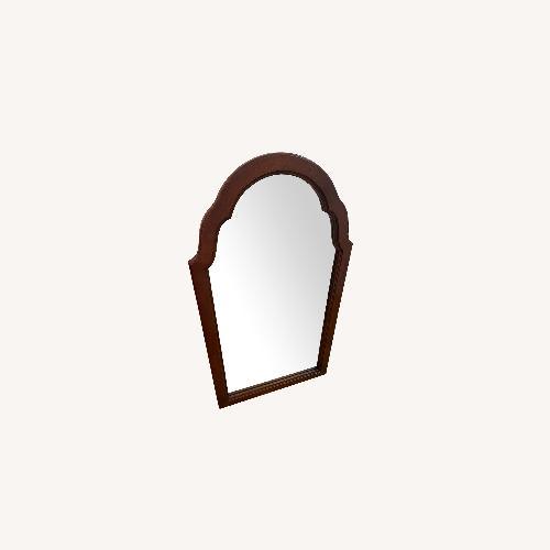 Used Stanley Furniture Vintage Medium Wood Hanging Mirror for sale on AptDeco