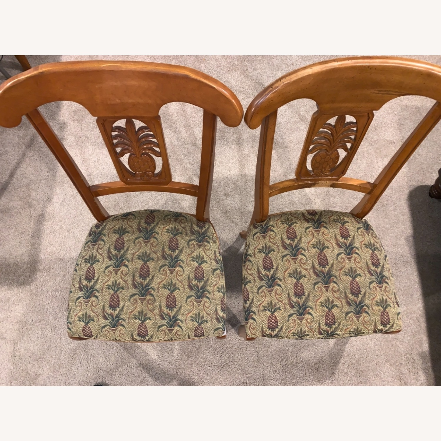 Ethan Allen Wood Dining Table with Leaf & 4 Chairs - image-6