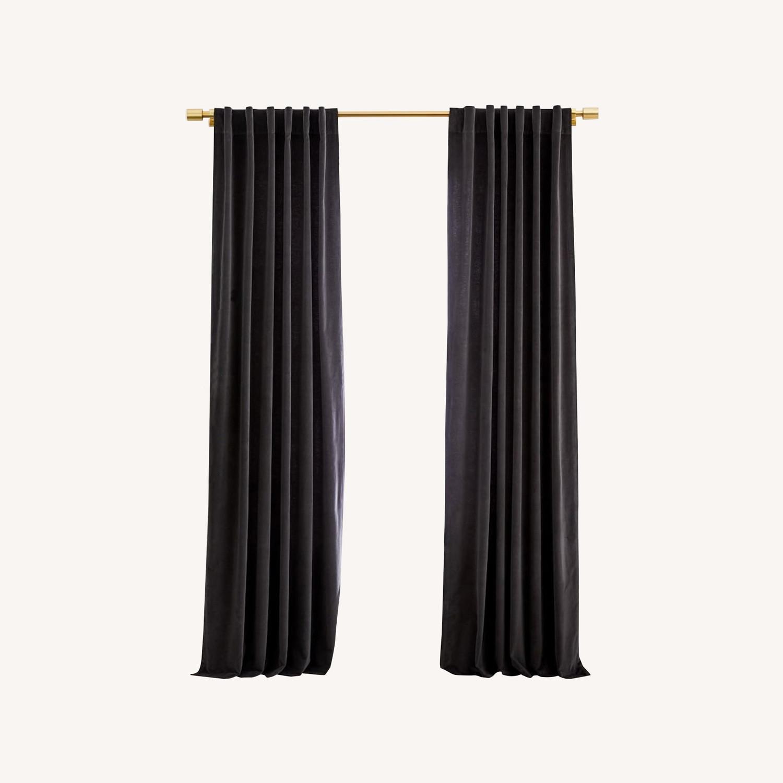 West Elm Blackout Velvet Curtains 48 x 84 x 2 - image-0