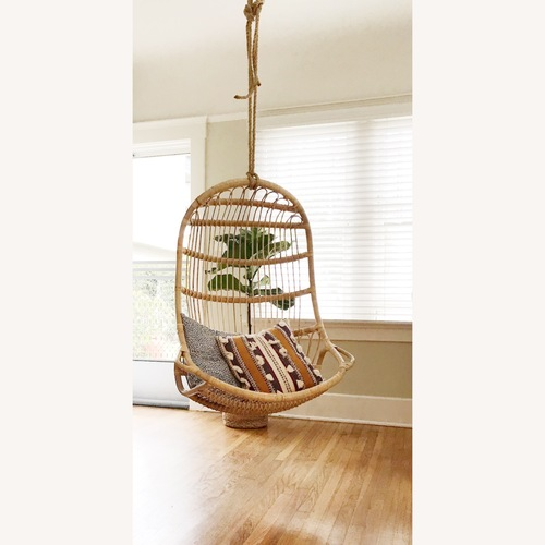 Used Serena & Lily Rattan Hanging Chair for sale on AptDeco