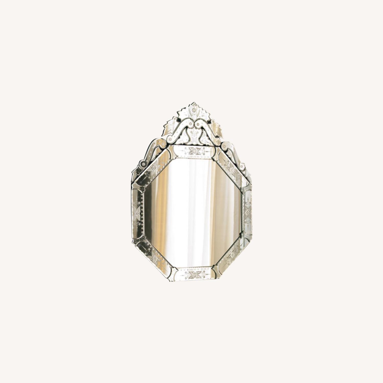 Horchow Venitian Hexagon Mirror - image-0