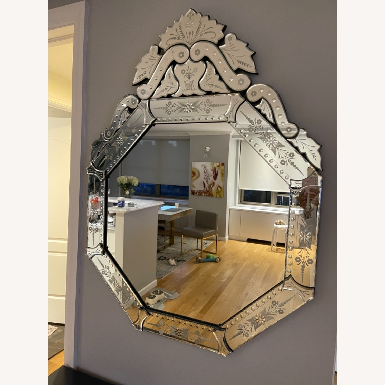 Horchow Venitian Hexagon Mirror - image-1