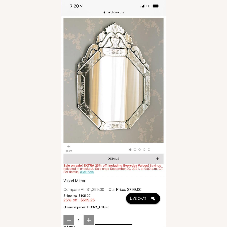 Horchow Venitian Hexagon Mirror - image-2