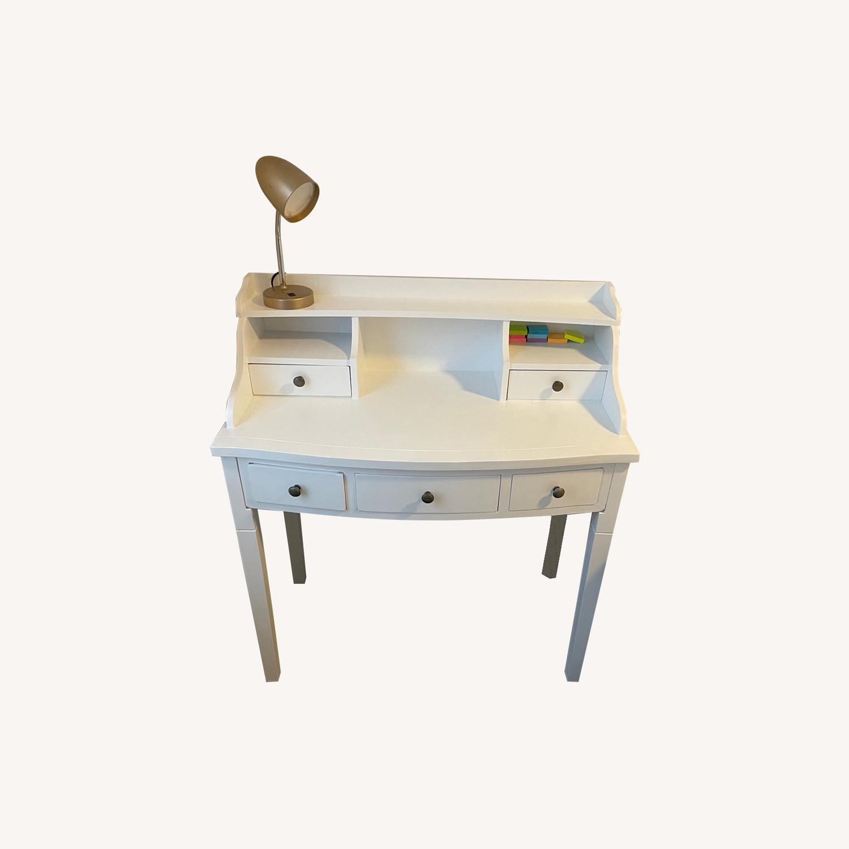 Wayfair Beachcrest Home White Desk with Hutch - image-0