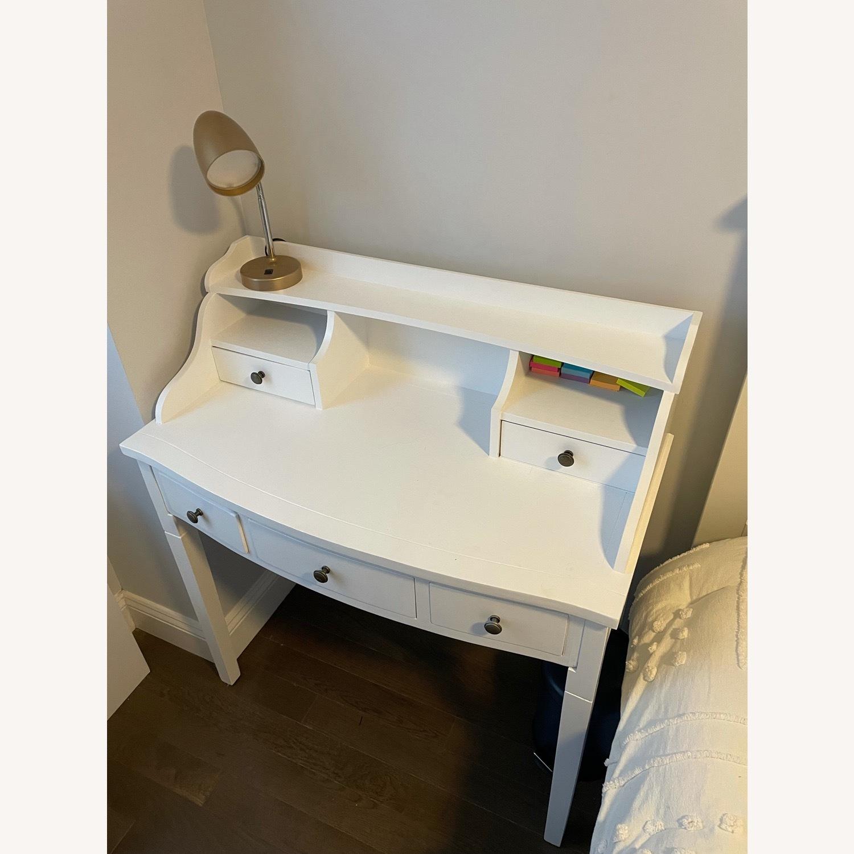 Wayfair Beachcrest Home White Desk with Hutch - image-3