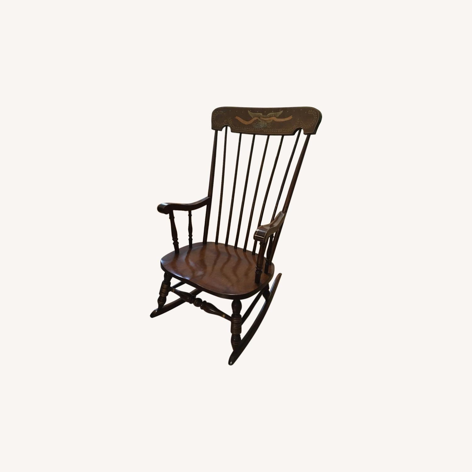Vintage Rocking Chair with Americana Stenciling - image-0