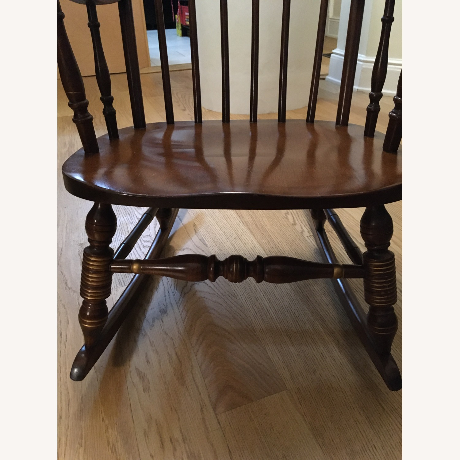 Vintage Rocking Chair with Americana Stenciling - image-3