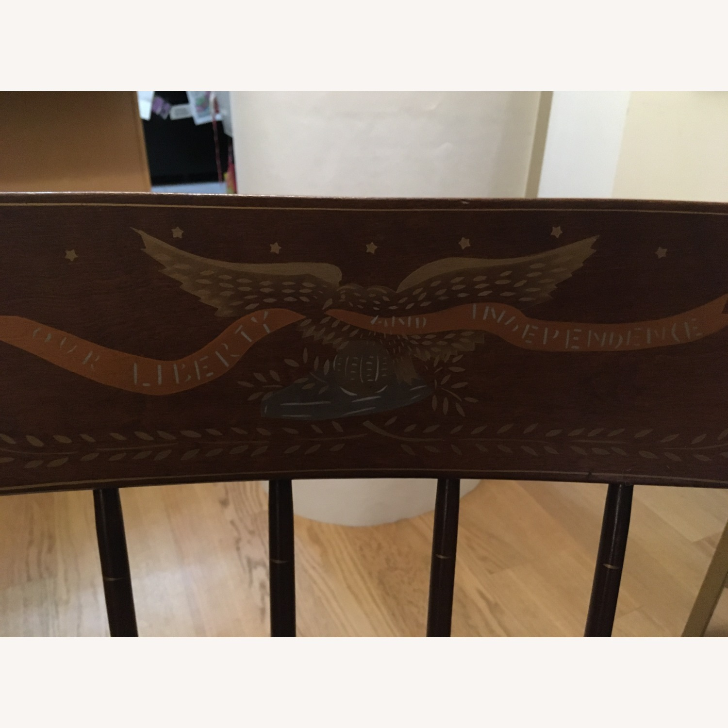 Vintage Rocking Chair with Americana Stenciling - image-6