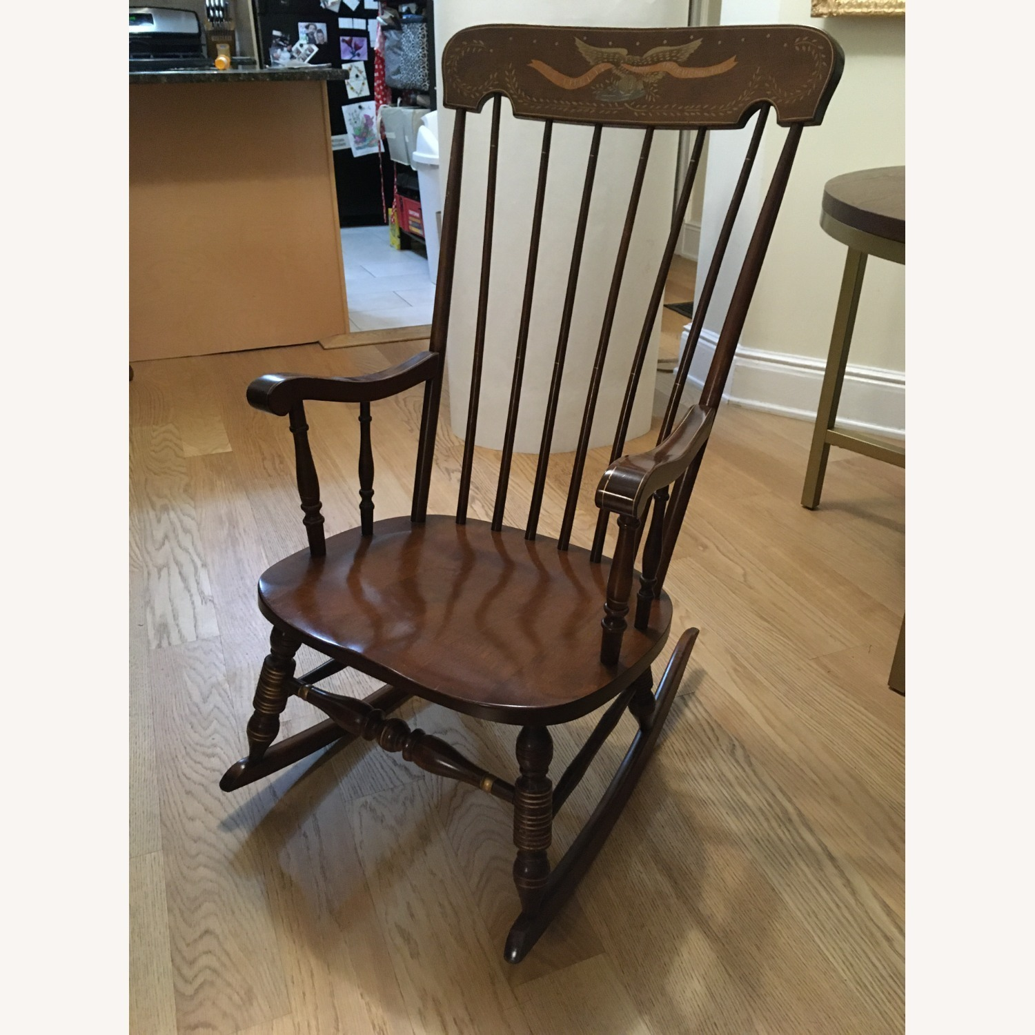Vintage Rocking Chair with Americana Stenciling - image-1